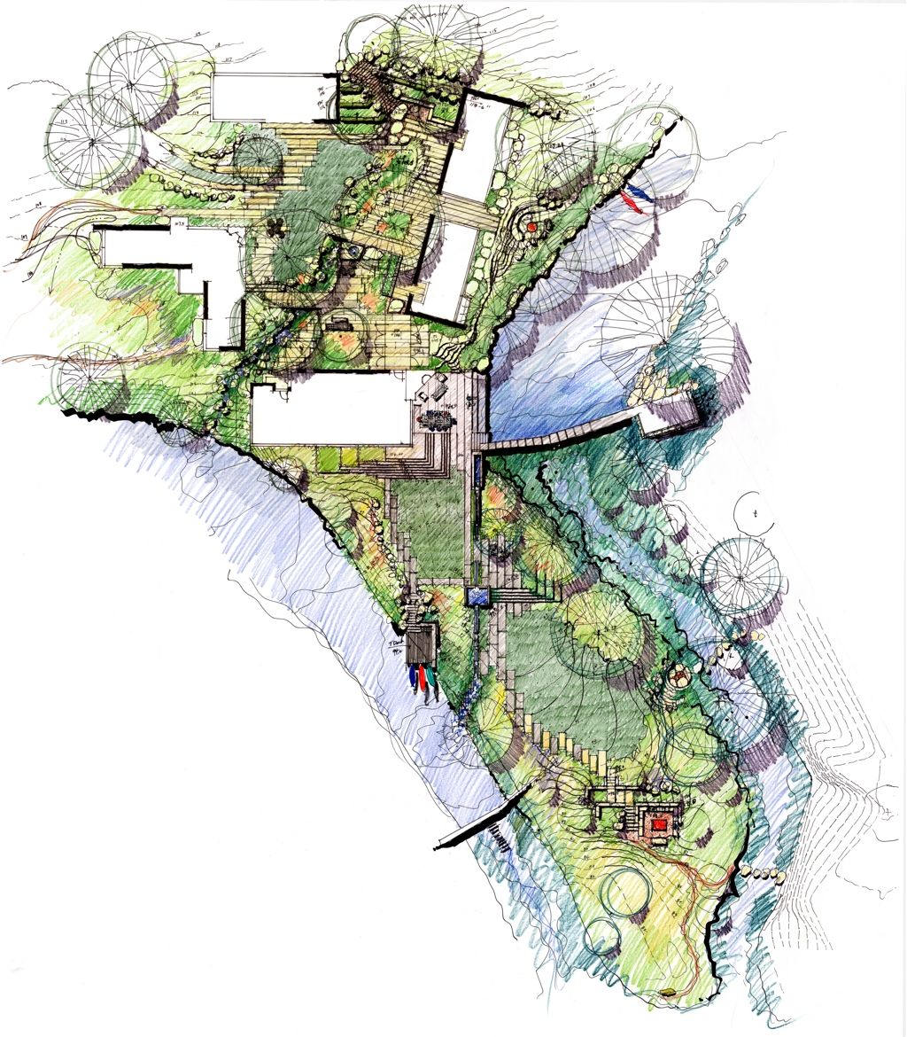 Mill creek ranch ten eyck landscape architects country for Landscape design sketches