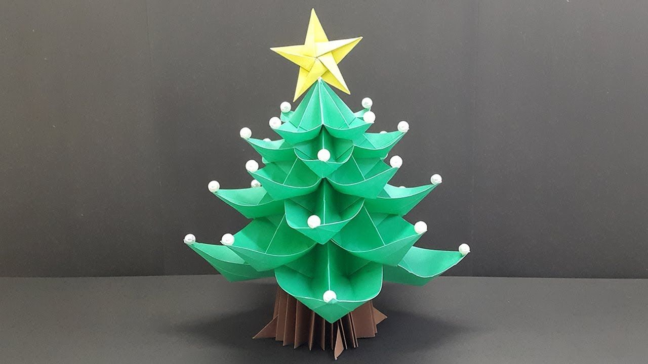 Paper Christmas Tree 3d How To Make Origami Christmas Tree Easy Christmas Origami Paper Christmas Tree Origami Christmas Tree