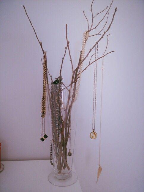 Jewel tree! Hanging up my necklaces.