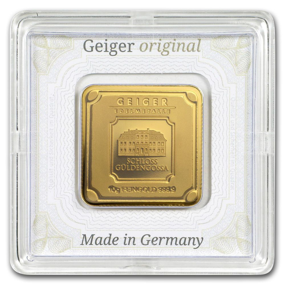 10 Gram Gold Bar Geiger Edelmetalle Originals Assay Sku 155929 Gold Bar Gold Bars For Sale Gold