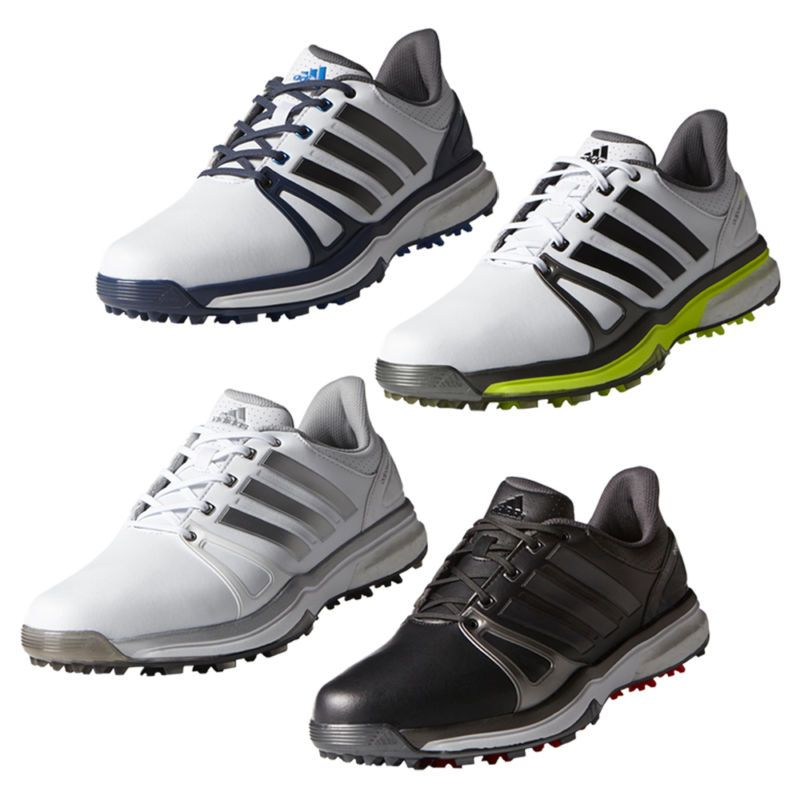 The adipower boost 2 helps your game with the a modern design and sleek look while remaining comfortable for your feet no matter how long your game la... #golf #shoes #clothing #goods #sporting #accs #mens #performance #adipower #boost #tour #adidas #design