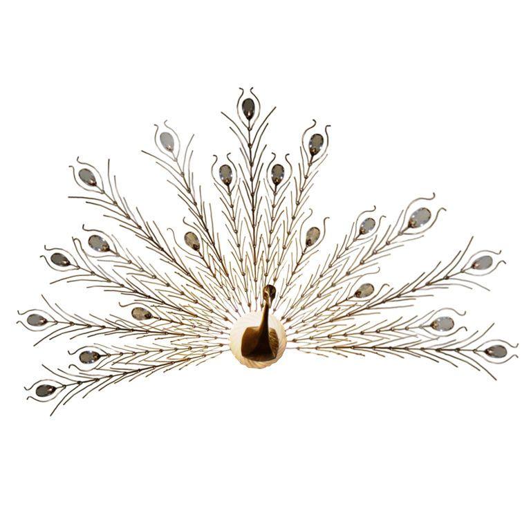 Metal Peacock Sconce