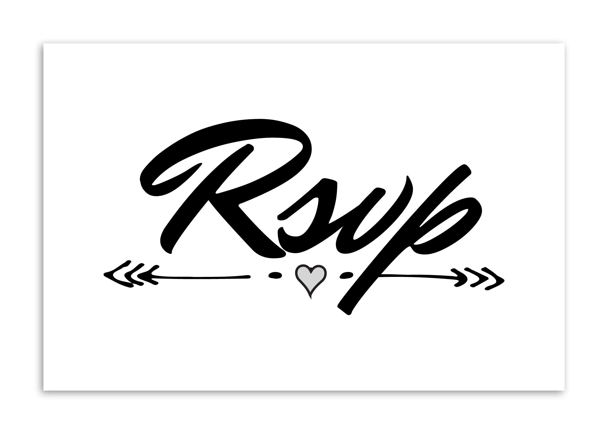 design easy format for guests to rsvp for your next event