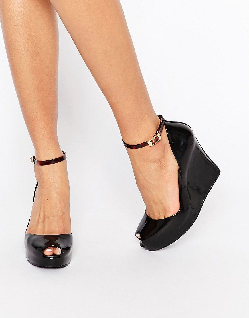 Melissa Patchuli Ankle Strap Wedge Shoes at asos.com