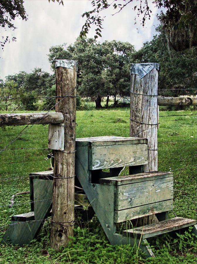 Farm Fence Stile Crossing Farm Fence Country Fences