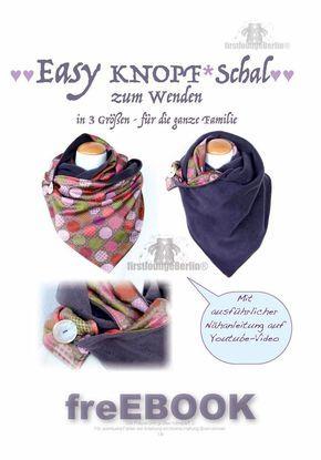 Easy Knopf*Schal | Pinterest | Schals, Schnittmuster und Nähen