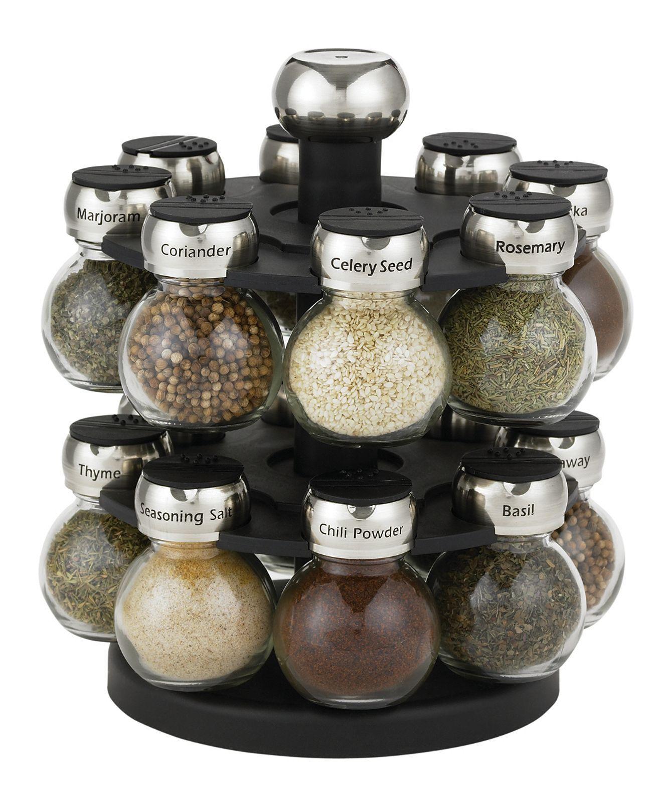 martha stewart collection 17 piece orbital spice rack set created