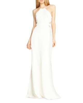 HALSTON HERITAGE Cutout Gown   Bloomingdale's