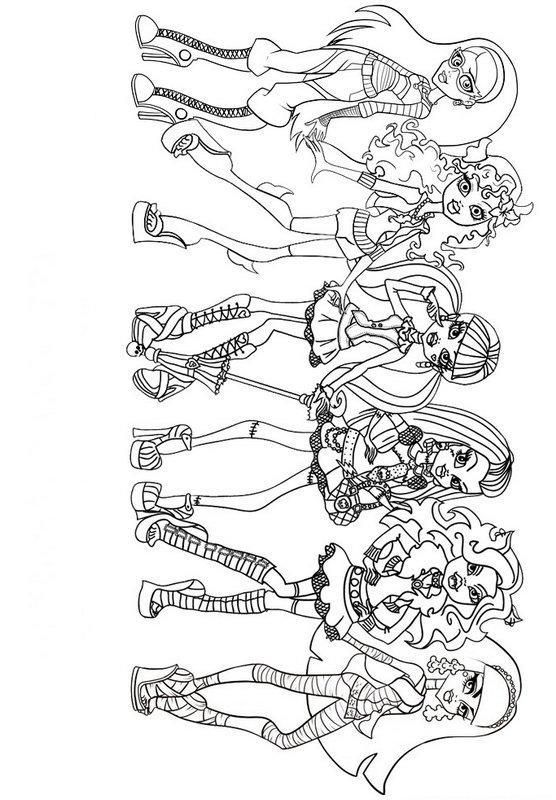 Print Girls Monster High Coloring Page Or Download Girls