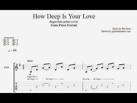 Bee Gees How Deep Is Your Love Fingerstyle Guitar Tabs Pdf