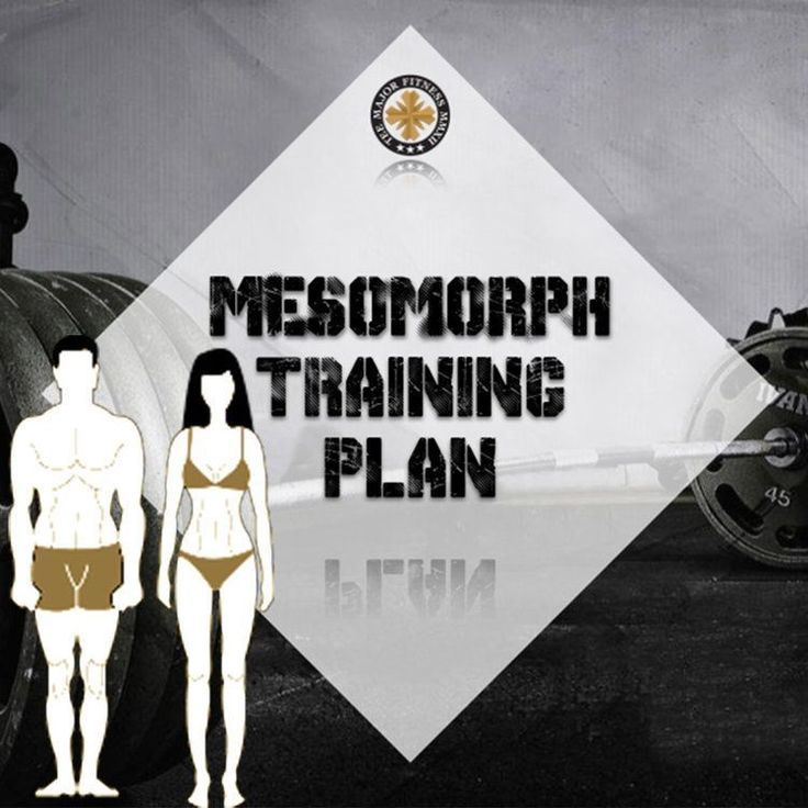 mesomorph body type and free training plan