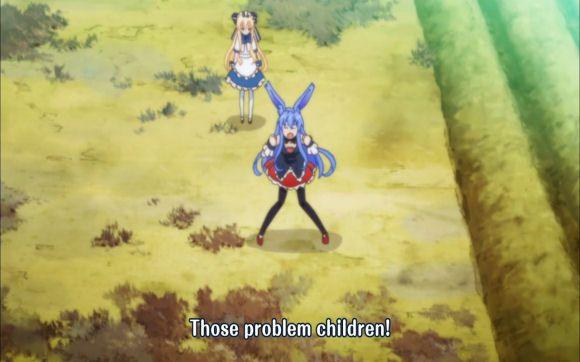 Mondaiji-tachi, anime, girls, black rabbit