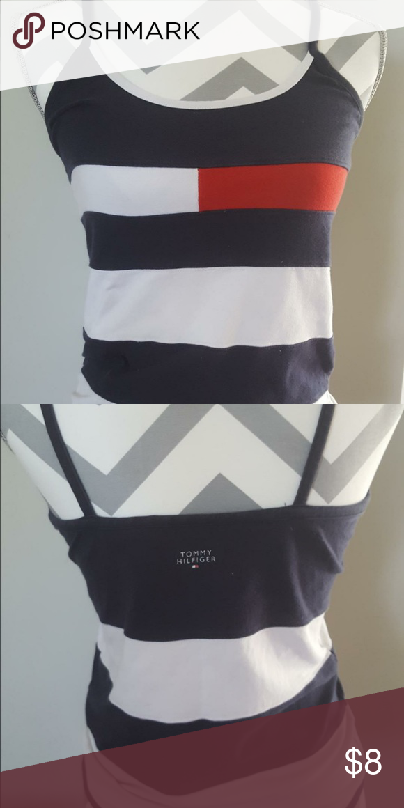Tommy Hilfiger spaghetti strap top Red, white and blue Tommy Hilfiger spaghetti strap top Tommy Hilfiger Tops Tank Tops