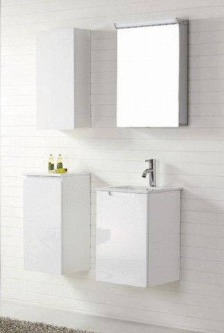 Contemporary Bathroom Vanities  range Aspen 400mm White Wall Hung Vanity For Modern Bathrooms by Nova Deko | AUD 499.00