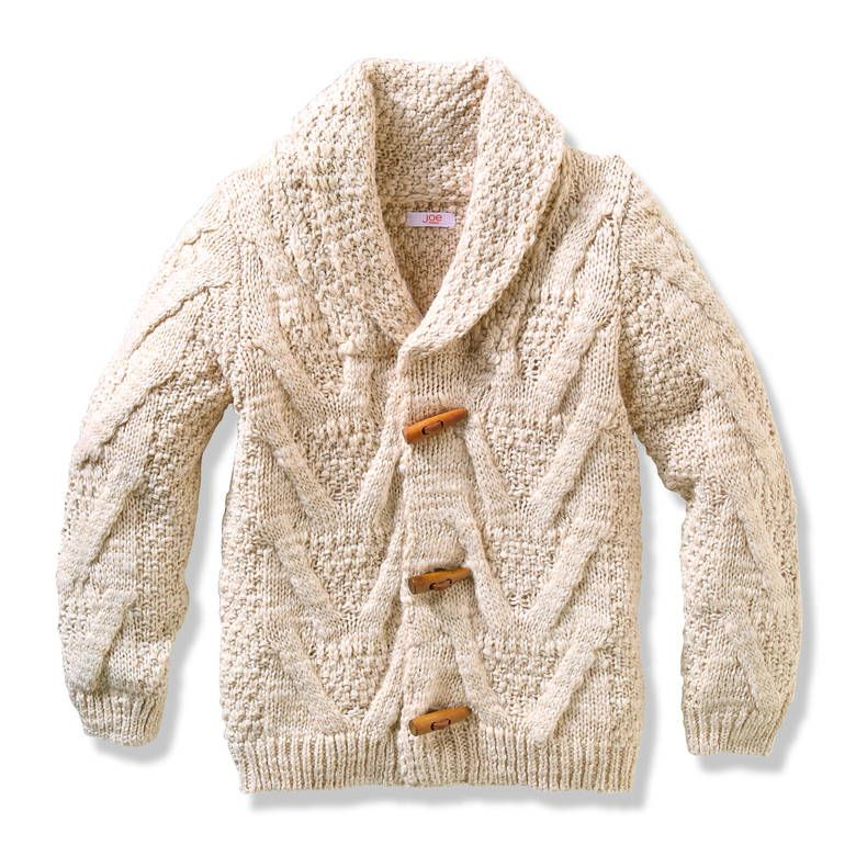 Kid Boys' Cable Knit Toggle Cardigan