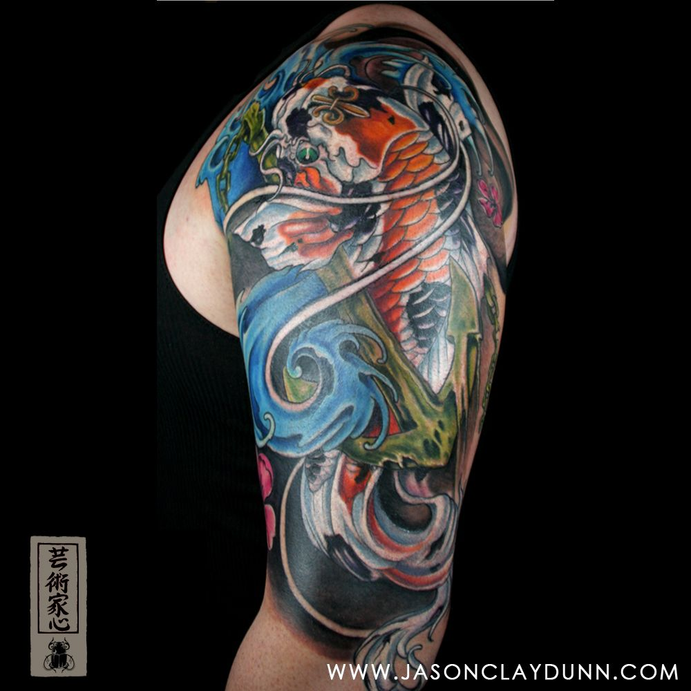 Koi carp tattoo tattoo pinterest koi tattoo and for Cost of a half sleeve tattoo