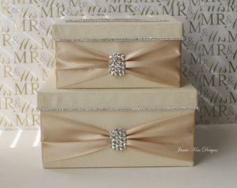 Wedding Card Box Money Box Custom Card Box by jamiekimdesigns