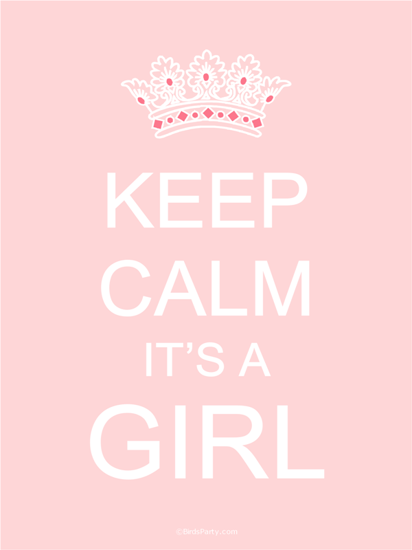 free printable keep calm it s a baby boy or girl posters daughters