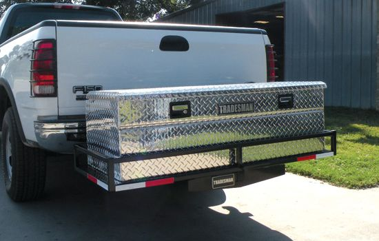 Steel Hitch Cargo Receiver And Aluminum Box