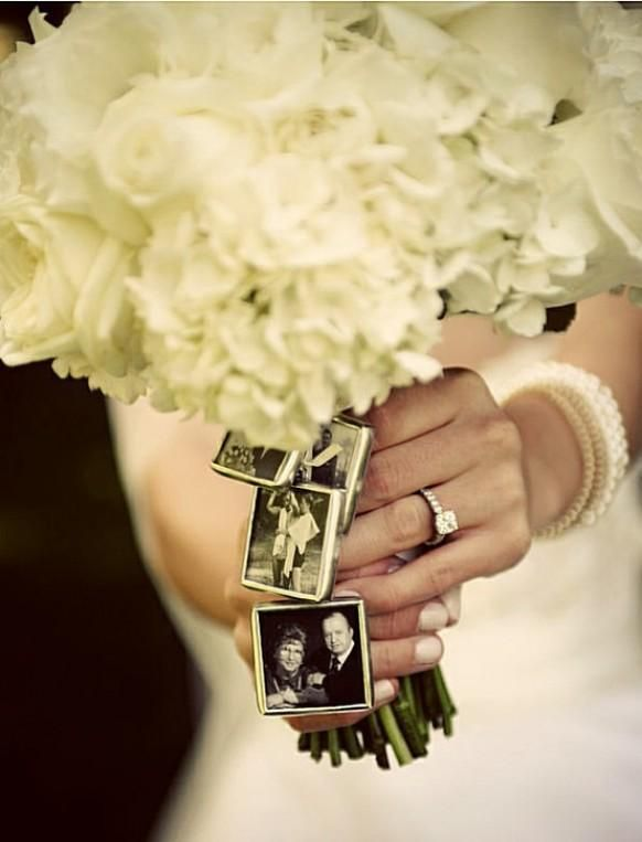 Personalized Wedding Bouquet Photo Frame Charms In Memory Of Those