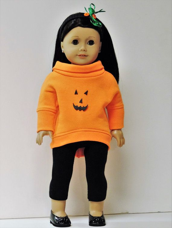 American Girl doll clothes Halloween slouchy top by OneGirlsDream