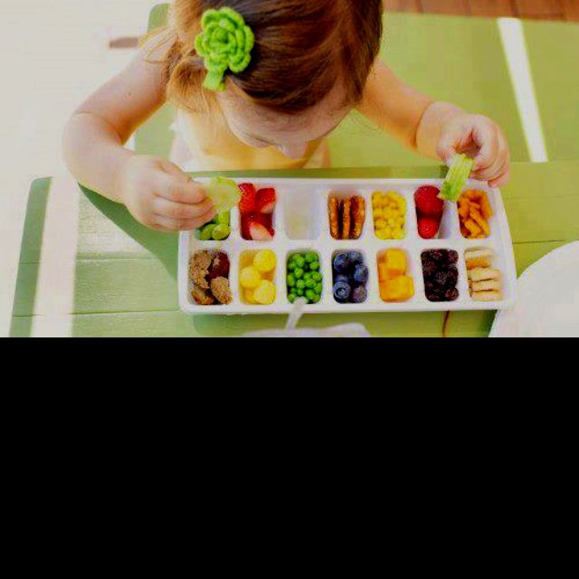 Great use of an ice cube tray!!