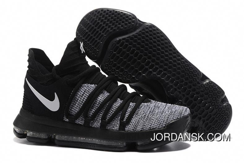 sports shoes 12f3c 6c5bb Copuon Code Nike KD 10 Grey Black Men Shoes Kevin Durant   adidasbasketballshoes