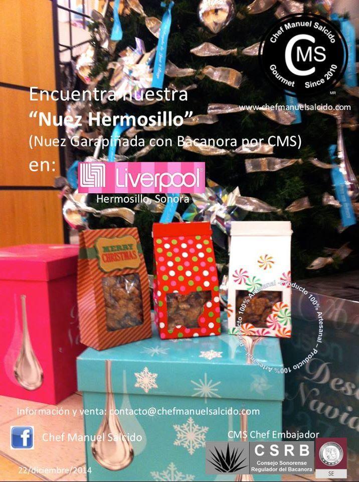 """""""Nuez Hermosillo"""" (Nuez Garapiñada con Bacanora por CMS), de venta en Liverpool #Hermosillo!!! buena vibra!!! #chefcms #nuezhermosillo #nuez #garapiñada #bacanora #ando #embajador #liverpool #diciembre #denominacióndeorigen #cultura #artesanal #handmade"""