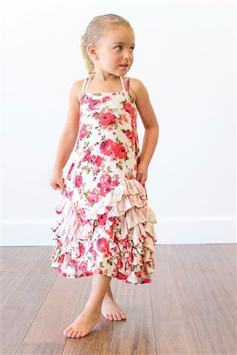 e2ddf35a9632 Pixie Girl Clothing - Full Bloom Maxi Dress in Red Flower