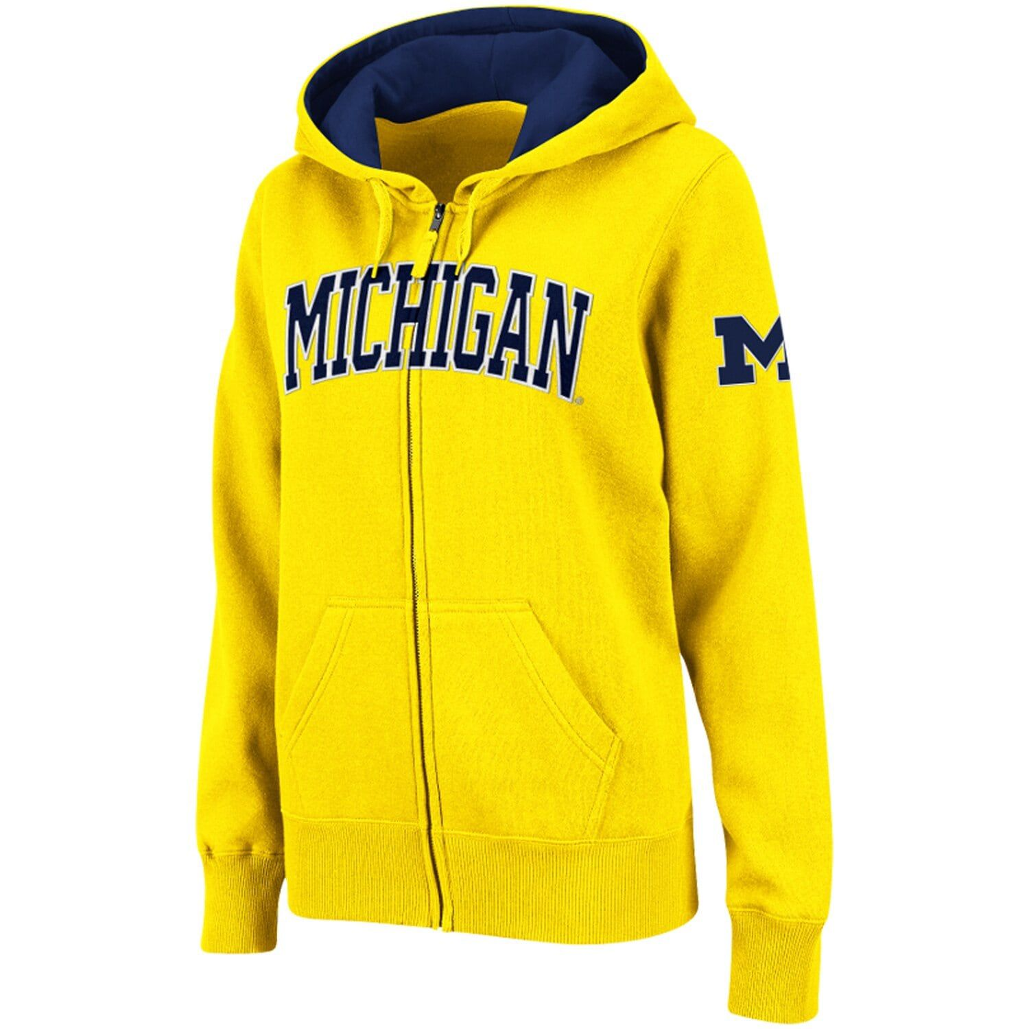 Women S Stadium Athletic Gold Michigan Wolverines Arched Name Full Zip Hoodie Affiliate Gold Affiliate Michigan Athl Zip Hoodie Full Zip Hoodie Hoodies