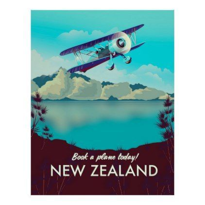 Book a Plane Today! New Zealand Poster #newzealand