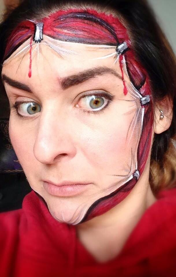 Booking agent for Eleanor - Live Body Painter Face, Halloween face - face painting halloween ideas