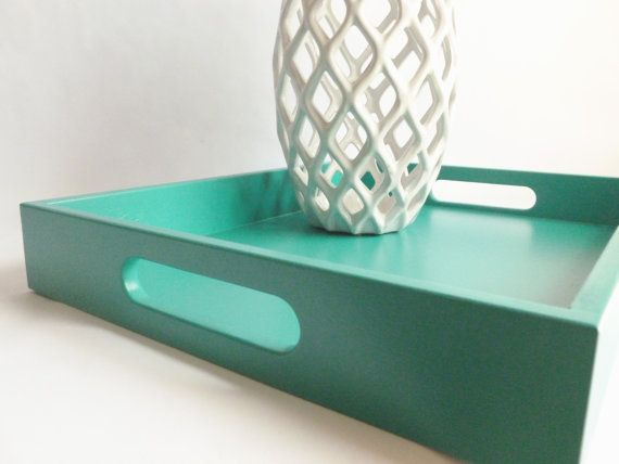 Turquoise Home Decor Accessories turquoise wood 14 x 18 rectangle serving tray home decor accessory