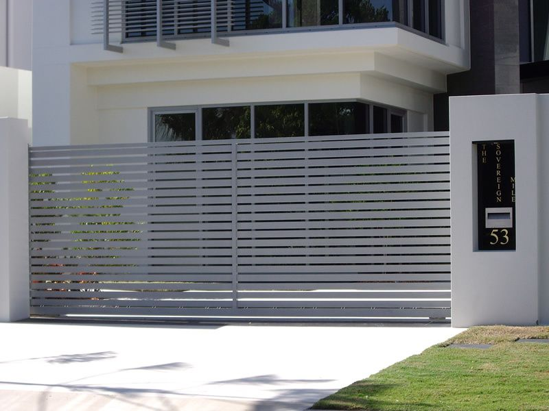 Modern driveway gates google search garage doors in - Sliding main gate design for home ...