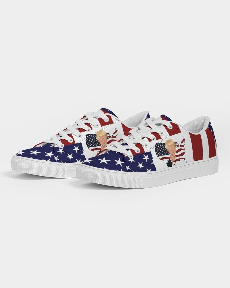 Trump Sneakers Women Faux Leather Tennis Shoes Trump Patriot Etsy In 2020 Patriotic Sneakers Womens Sneakers Womens Faux Leather