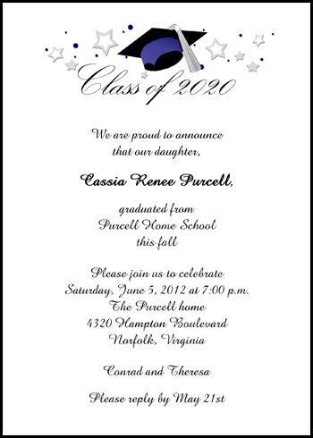 Free Graduation Wording for 99¢ Announcements Invitations Shop - graduation program