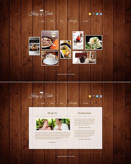 Cafe and Restaurant Website Template | Restaurant website templates