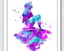 Primitive Mermaid Clip Art | Mermaid Digital Download, Ariel pri nt, Disney Ariel, Disney Little ...