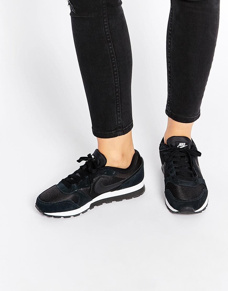 629278f438 Nike | Nike MD Runner 2 Black & White Trainers at ASOS | Wish list ...
