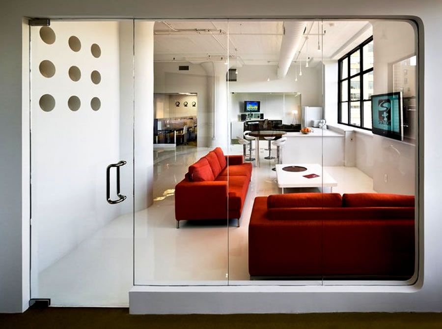 Client Lounge Animation Studio Office Interior Design UM Project Brooklyn NYC