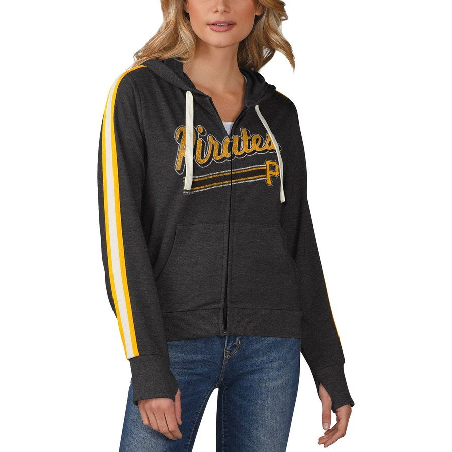 f1acb2272 Pittsburgh Pirates Touch by Alyssa Milano Women's Conference Full-Zip  Hoodie - Black