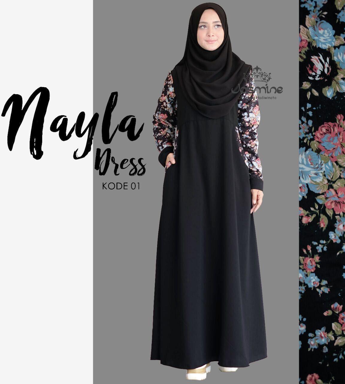 Gamis Jasmine Nayla Dress 10 - baju gamis wanita busana muslim
