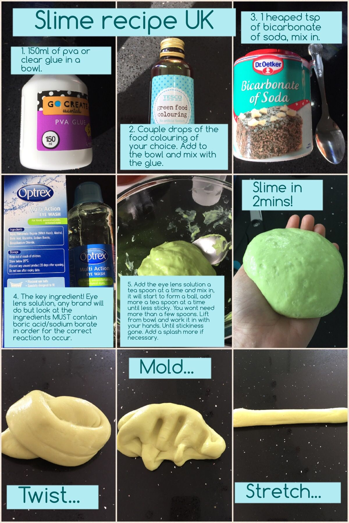 A slime recipe that will work in the uk the key slime making a slime recipe that will work in the uk the key slime making ingredient that ccuart Image collections