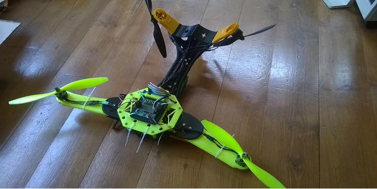A 3D Printed V-Tail Quadcopter with Functionality and Flair