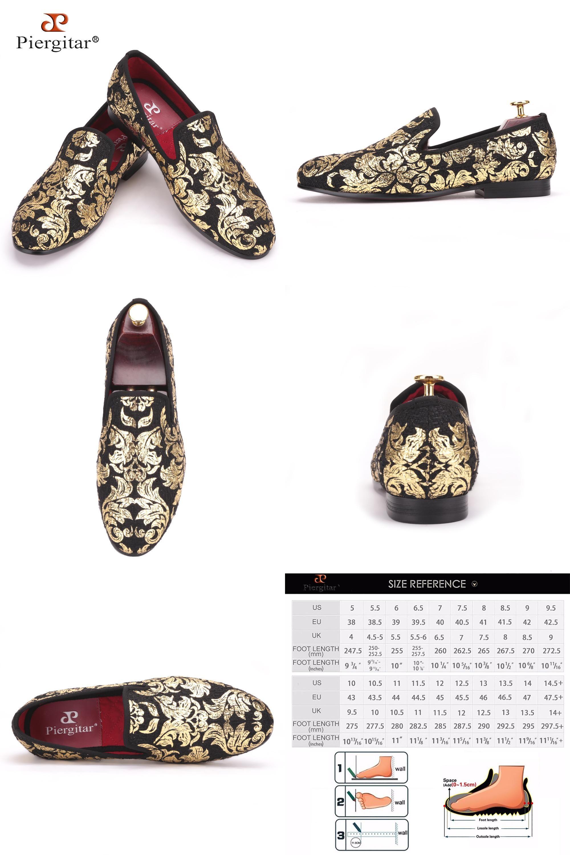 c648e0d53e6  Visit to Buy  Piergitar New High-end Gold printing Men Shoes Luxury Fashion