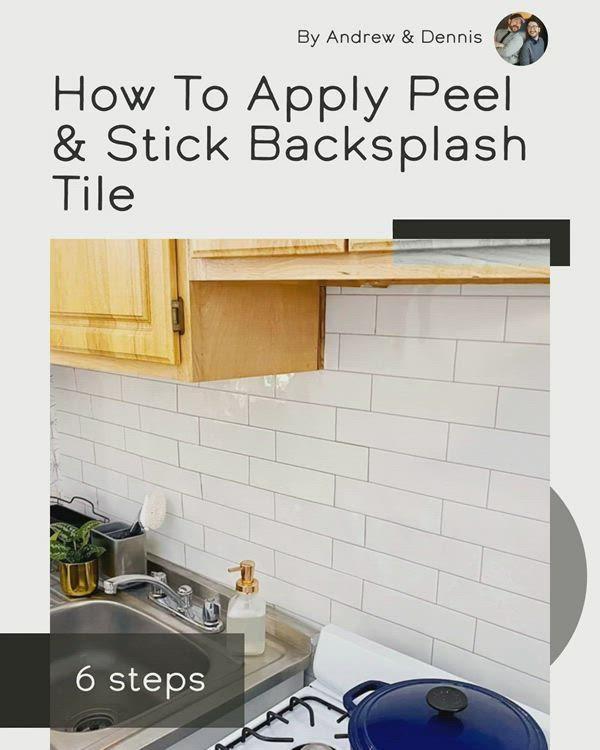 How To Apply Peel Stick Backsplash Tile Video Video Peel Stick Backsplash Grey Kitchen Designs Diy Tile Backsplash
