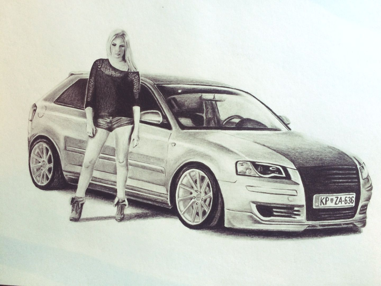 Audi A3 Drawing Cars Pinterest Drawings Car Drawings And Cars