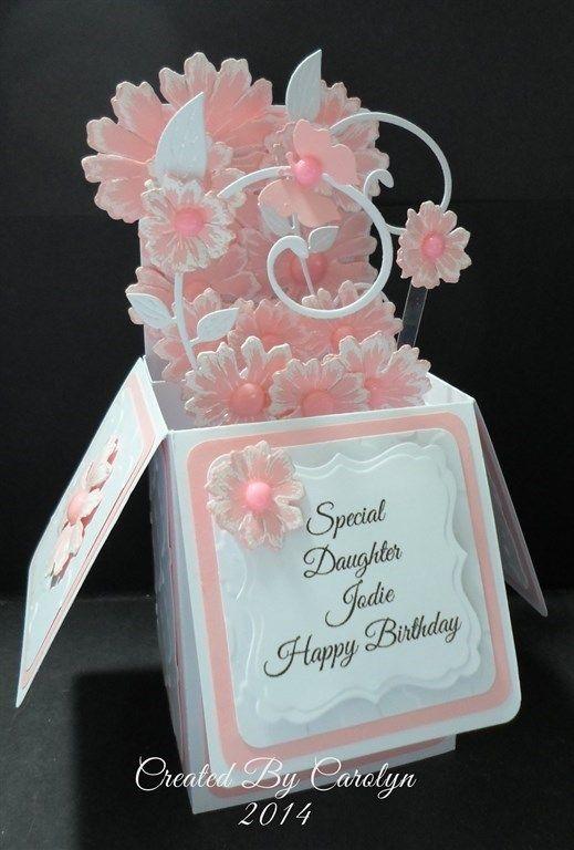 DAUGHTER POP UP BOX BIRTHDAY CARD By Carolynshellard