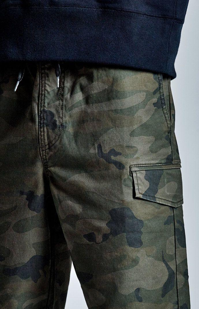 b3e9041317 Camo Jogger Cargo Shorts Camo Joggers, Cargo Pants, Pacsun, Shorts, Denim,