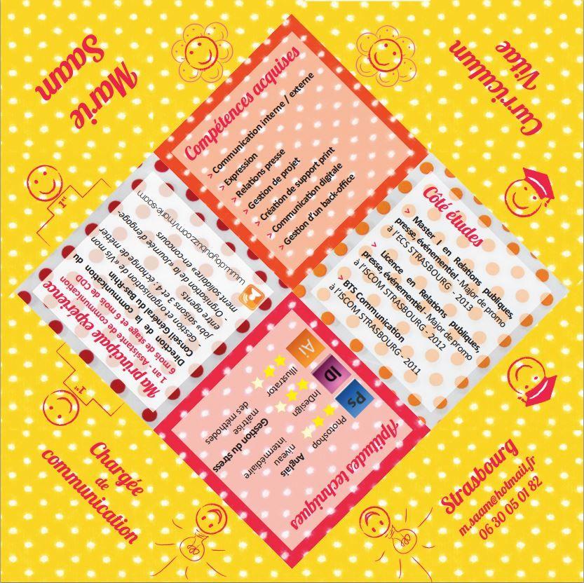cv_original_cocotte_papier_communication_marie_saam CV Pinterest